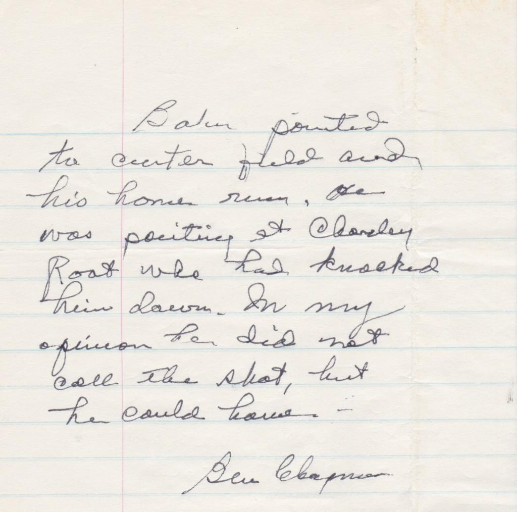 Ben Chapman started in right field for the Yankees; here's what he thinks
