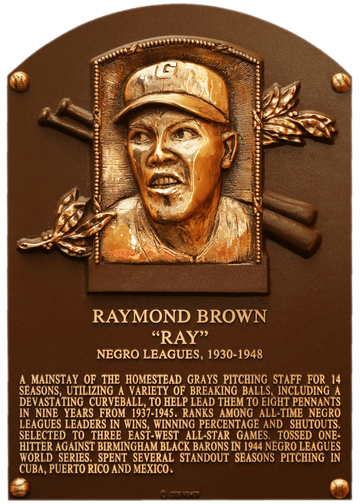 Hall of Fame plaque of Ray Brown