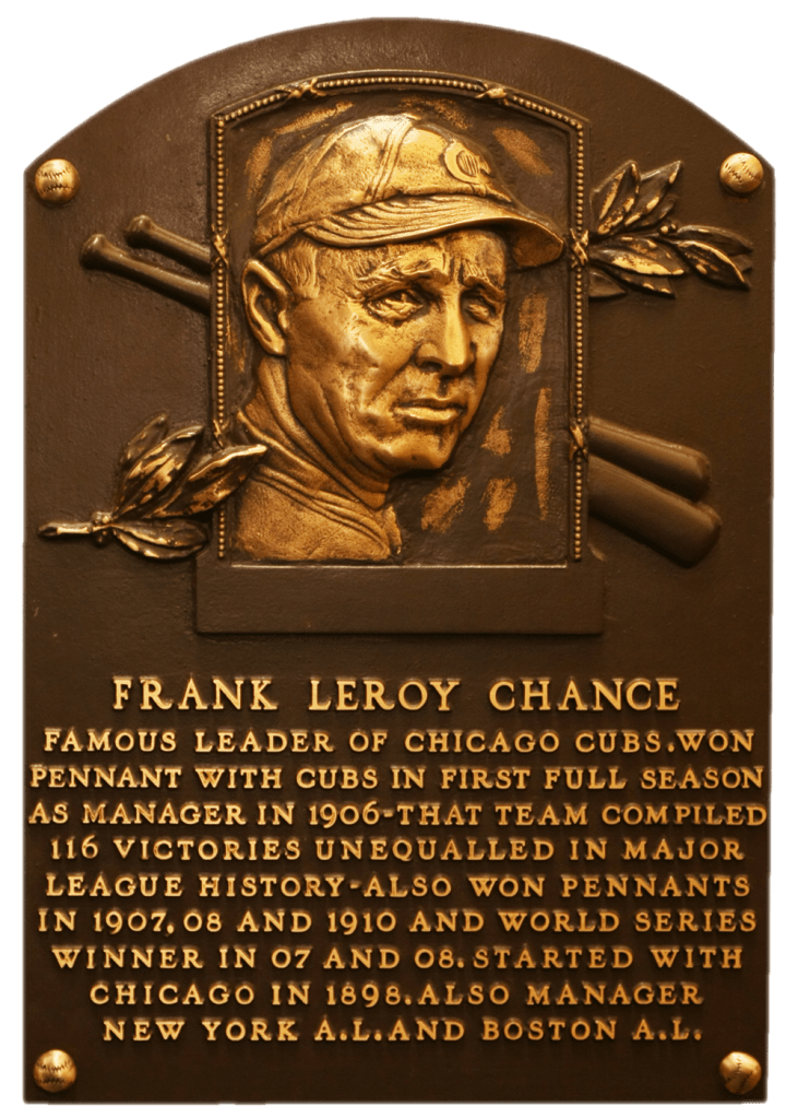 Frank Chance's HoF plaque