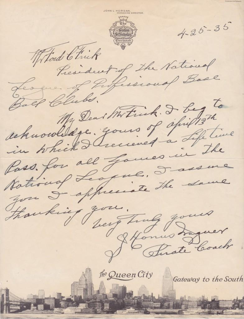 Bill Dahlen called Honus Wagner & Ty Cobb the greatest players ever; here's Wagner's autograph