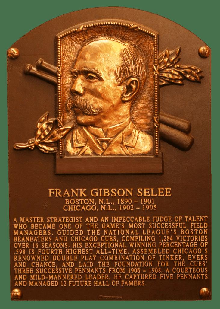 Frank Selee's HoF plaque