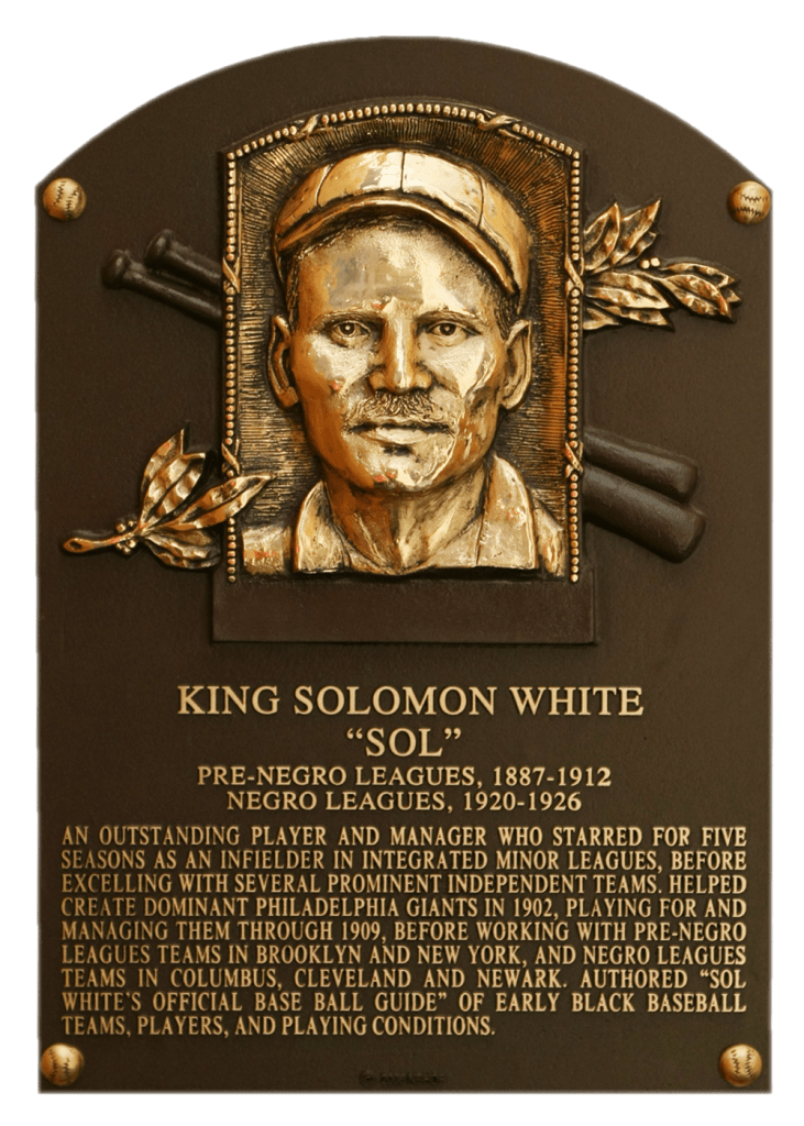Sol White wrote about Cap Anson's role in creating baseball's color barrier