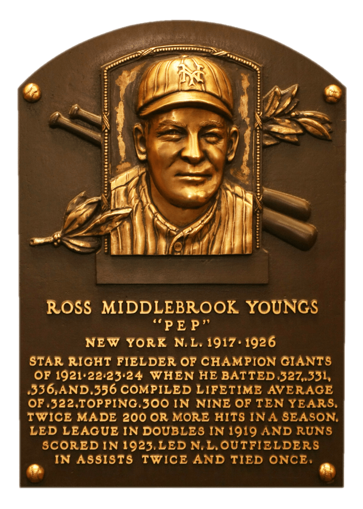 Ross Youngs is one of three post-1900 MLB debut HoF players whose autograph is not in the collection