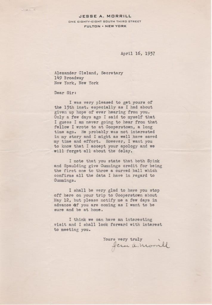 Letter from Morrill