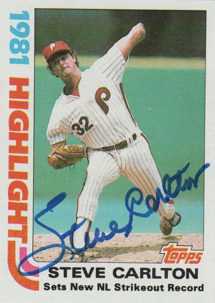 Carlton set the NL mark for career strikeouts in 1981, a record he still holds