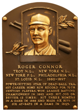 Roger Connor's Hall of Fame plaque