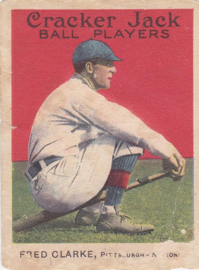 Fred Clarke 1915 Cracker Jack baseball card