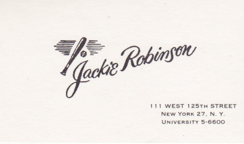 Jackie Robinson's business card from retirement