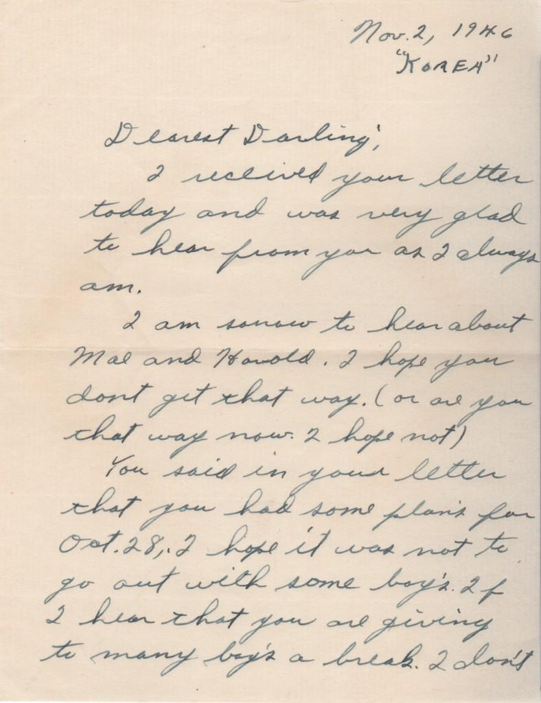 First page of Fox's letter to his future wife