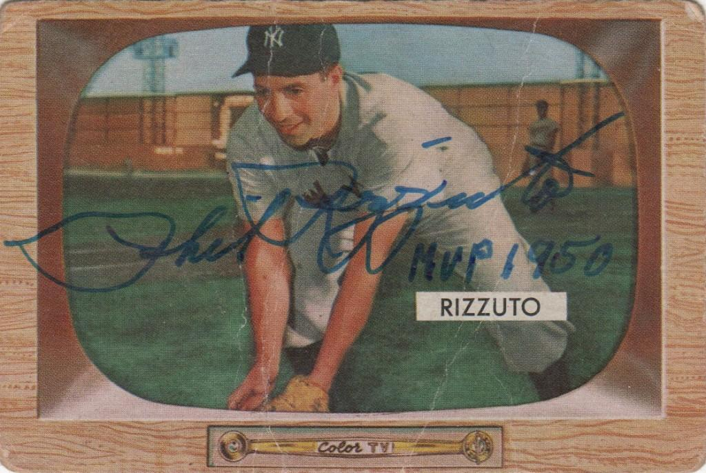 Autographed 1955 Bowman Phil Rizzuto card