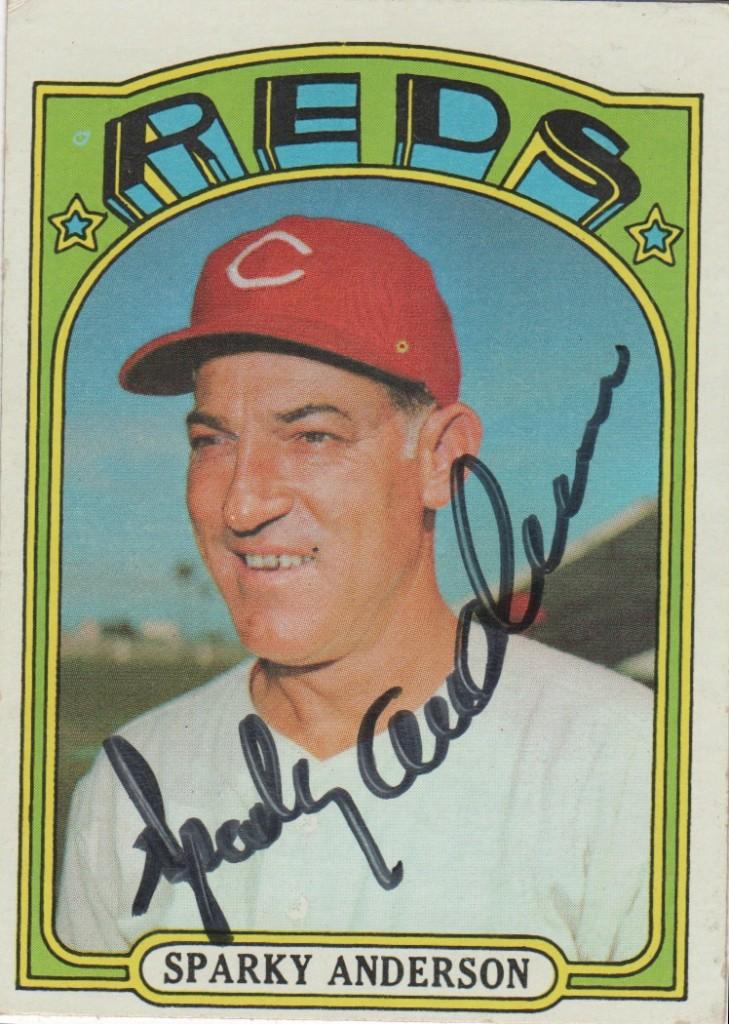 Sparky won two World Series titles with the Reds