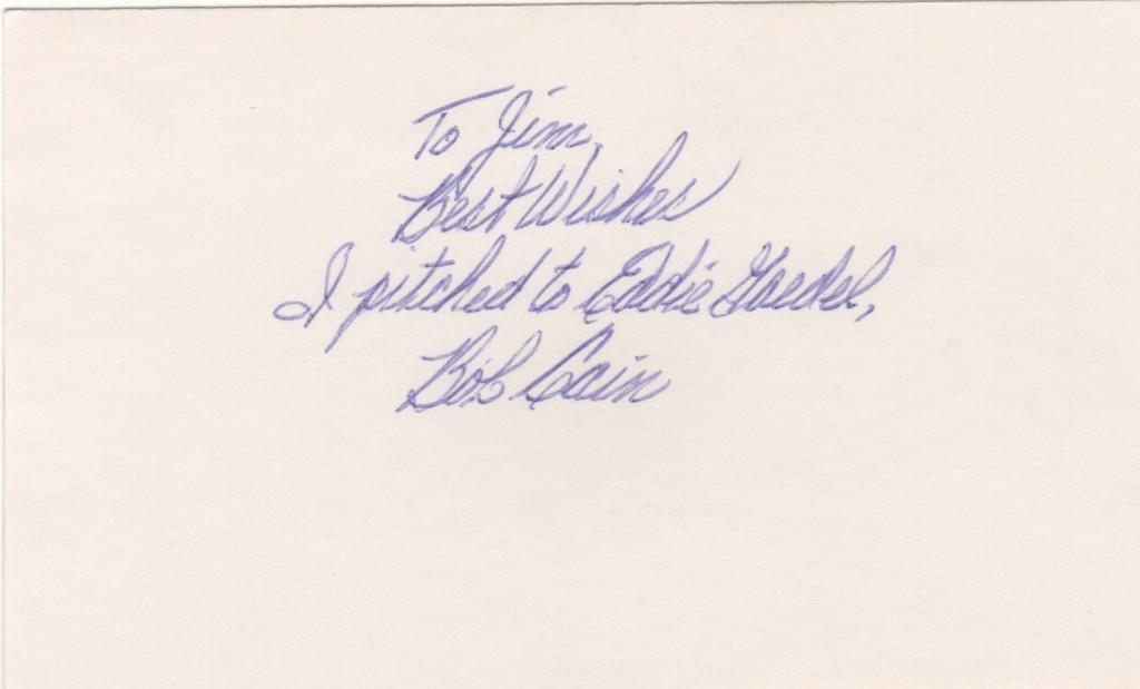 Bob Cain wrote