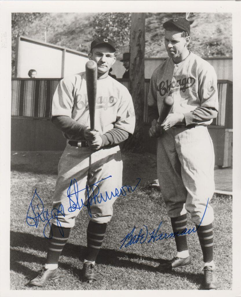 8x10 photo signed by Riggs Stephenson and Babe Herman