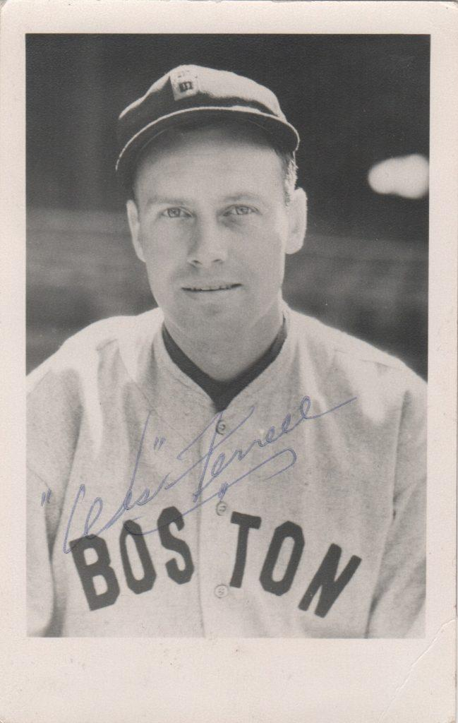 Postcard photo signed by Rick Ferrell