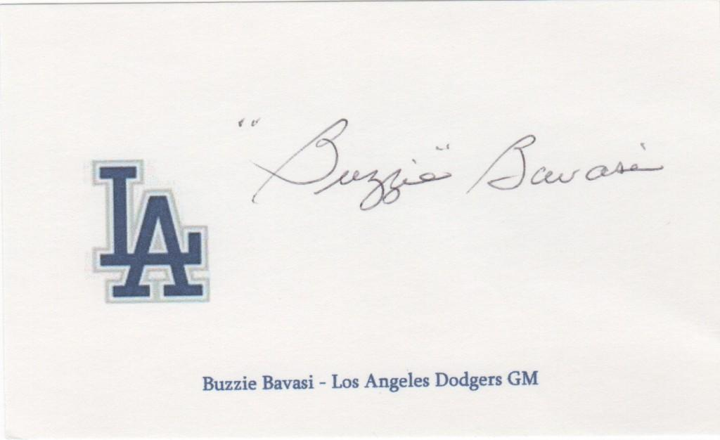 Buzzie Bavasi was with the Dodgers from the 1930s until 1968