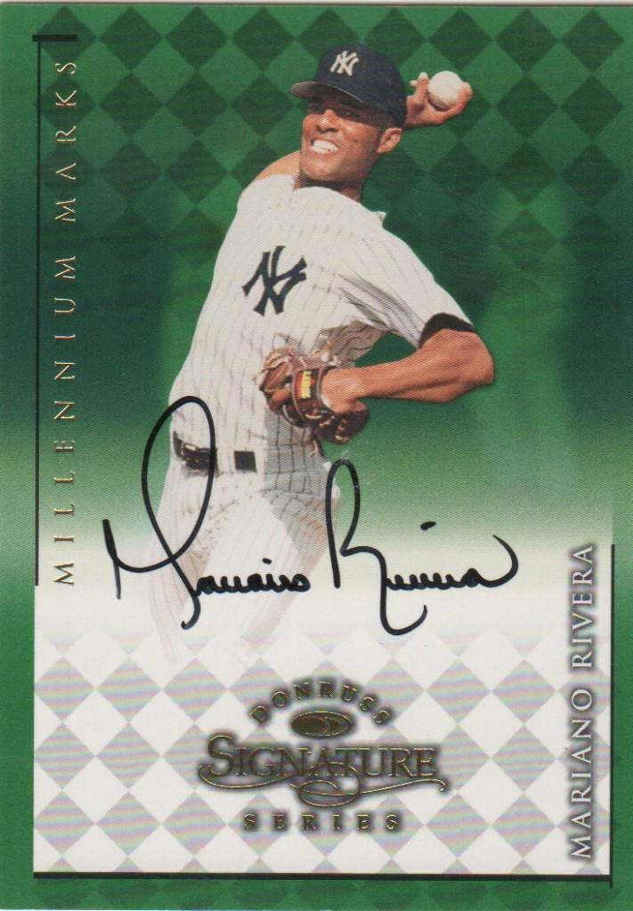 Autographed 1998 Donruss Mariano Rivera card