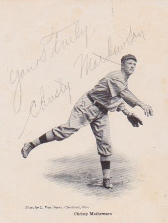 Autograph of Chief Meyers' New York Giants battery mate Christy Mathewson