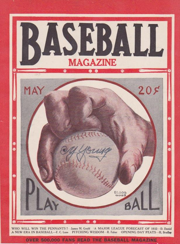 Autographed Baseball Magazine from May, 1932