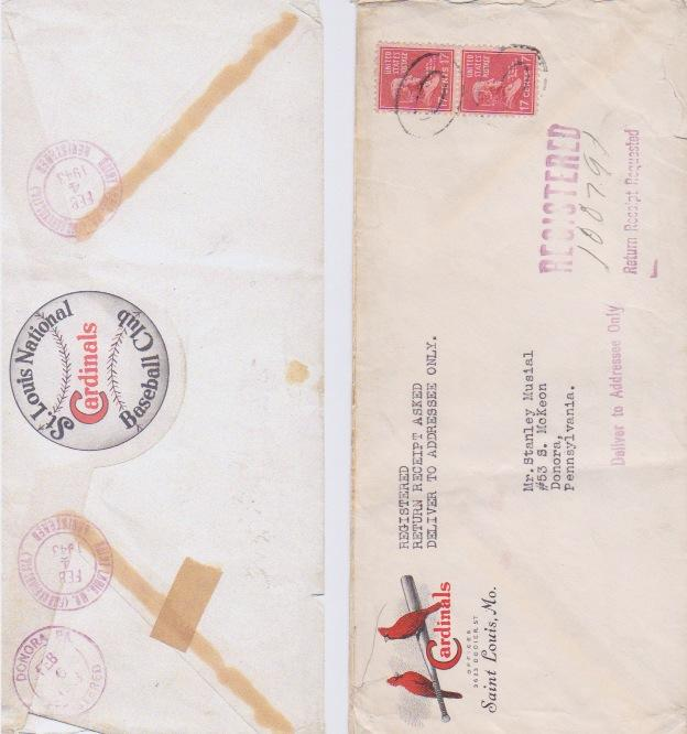 Front and back of the envelope that enclosed the first letter.