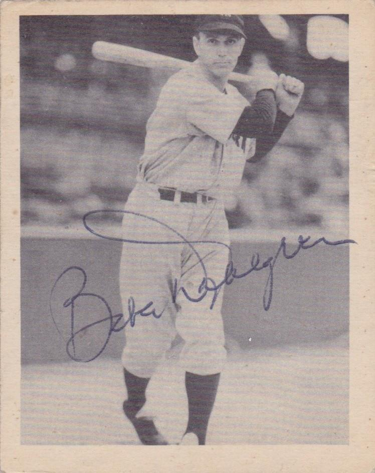 The Streaks ends here: Gehrig's streak was ended when Babe Dahlgren started at first base for NY on 5/2/1939, the same year of this baseball card