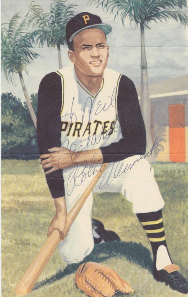 Personalized autograph of Roberto Clemente