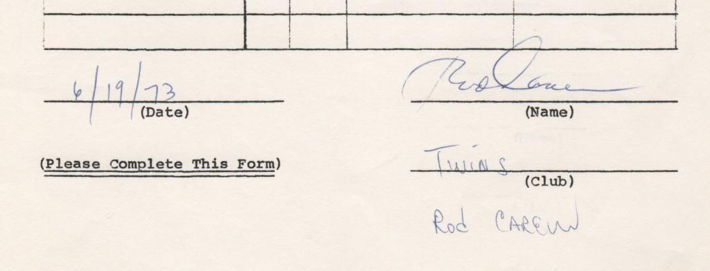 Signature portion of the 1973 endorsement questionnaire