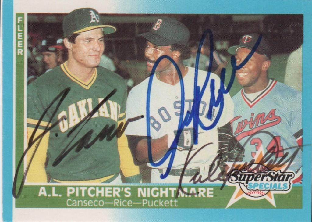 Autographed 1987 Fleer A.L. Pitcher's Nightmare card