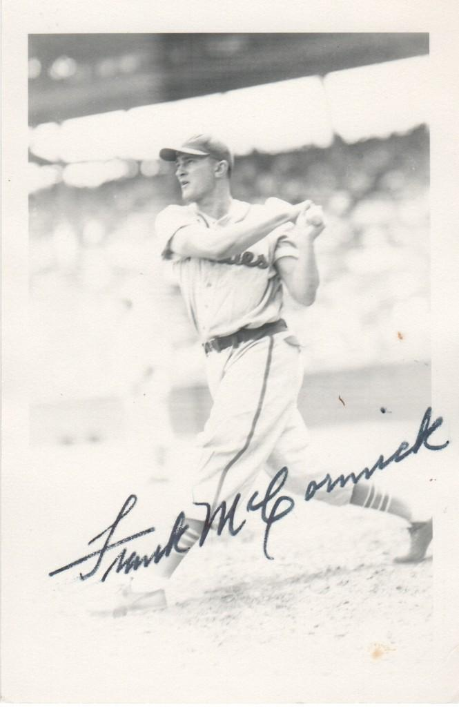 Autographed George Brace photo of Frank McCormick