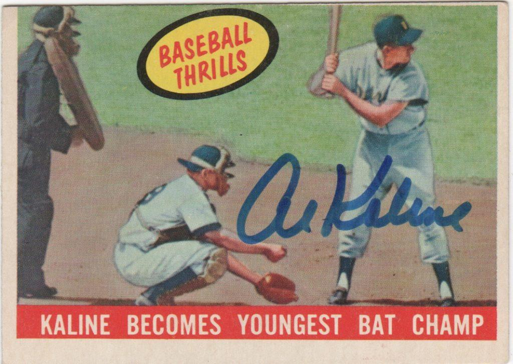 1959 Topps card signed by Al Kaline