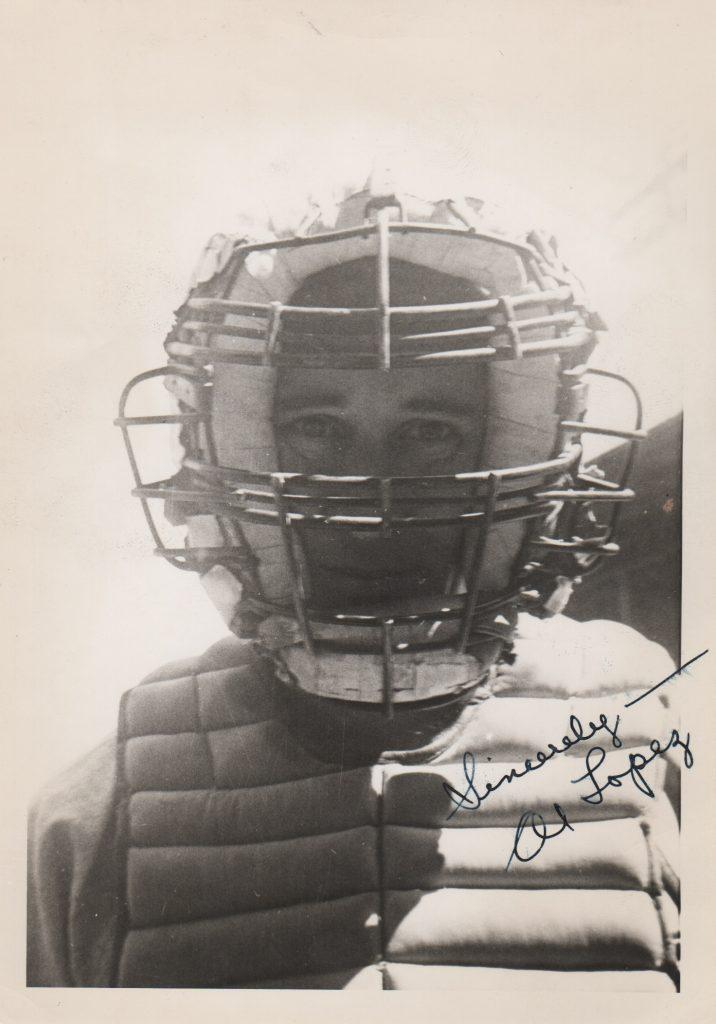 Signed photo of Lopez during his playing career