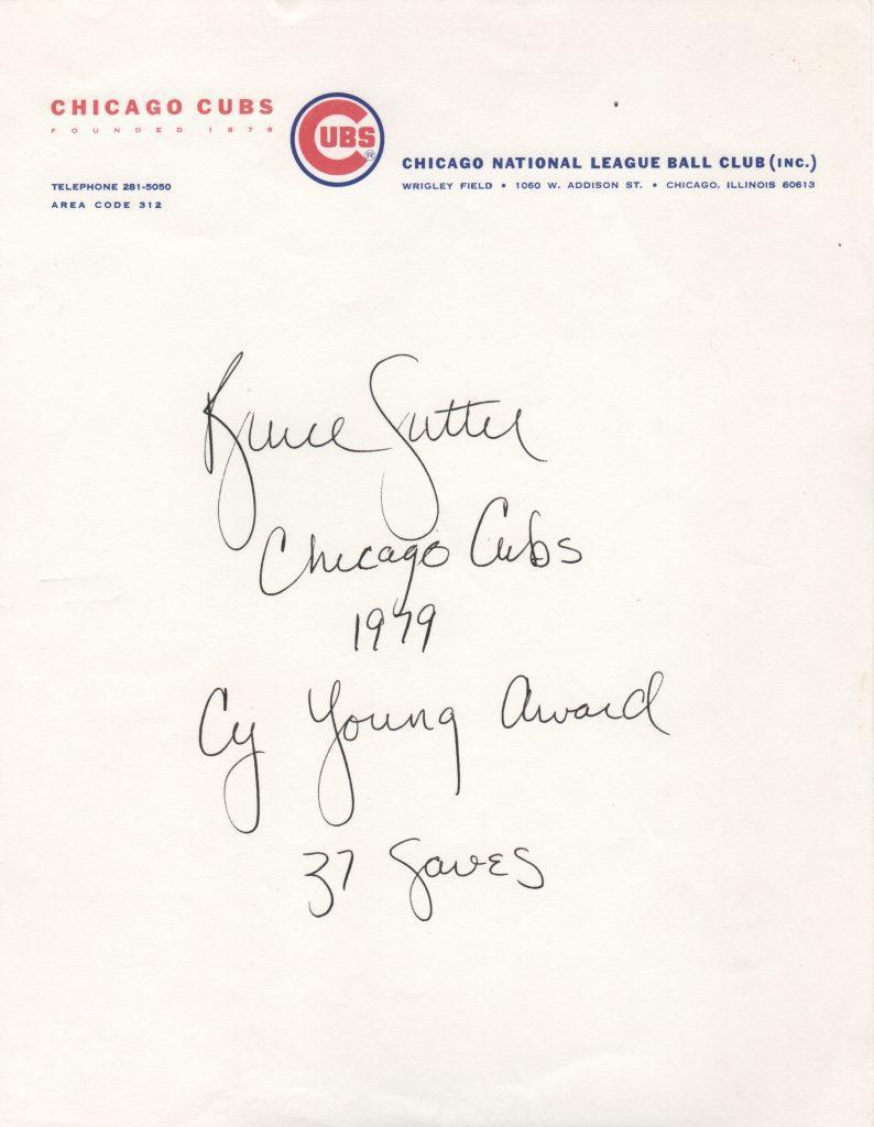 Bruce Sutter pens career highlights