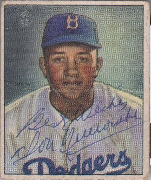 Autographed 1950 Bowman rookie card