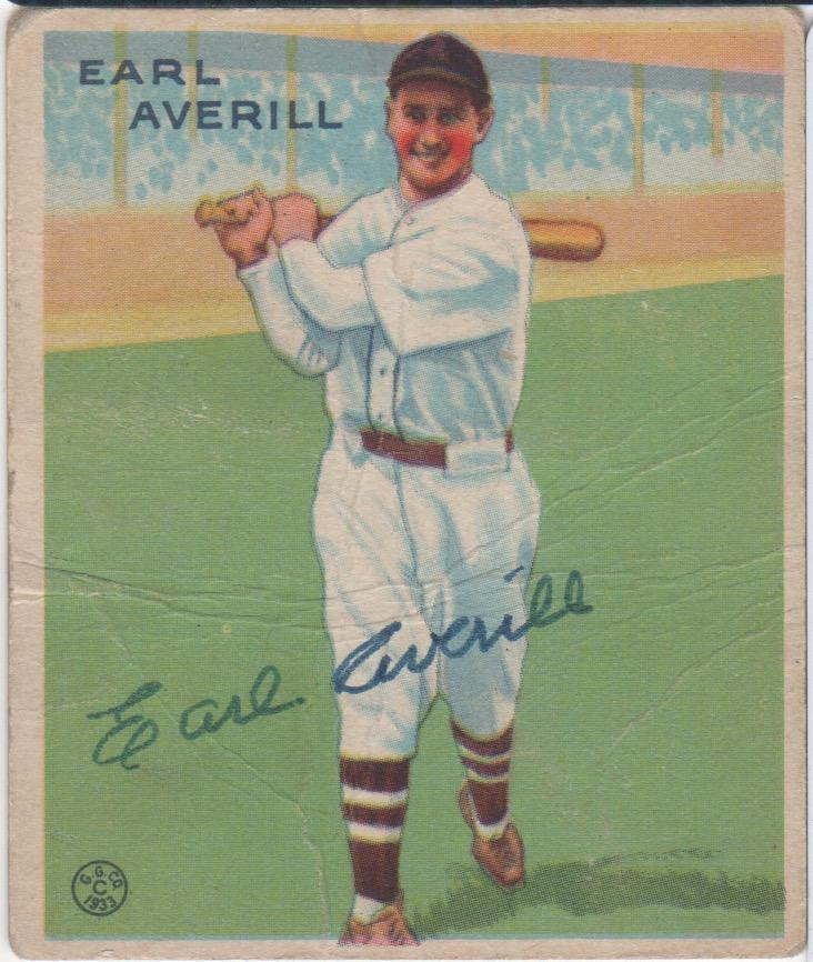 Signed '33 Goudey - from the same year as the 1st all-star game