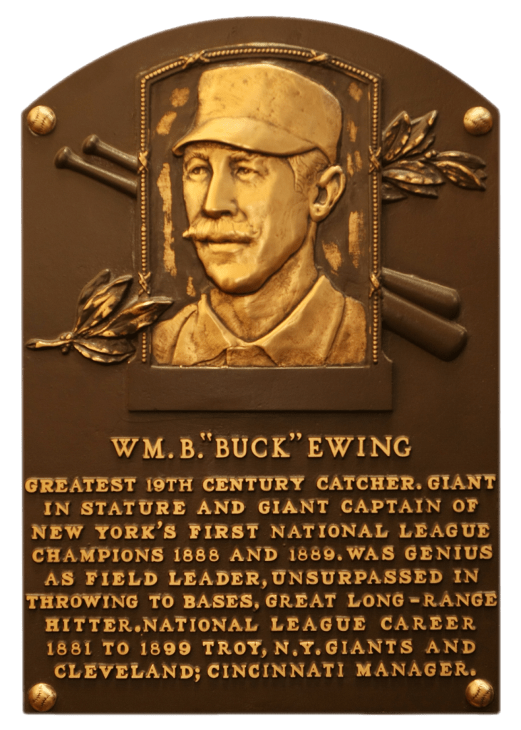 Buck Ewing's Hall of Fame plaque