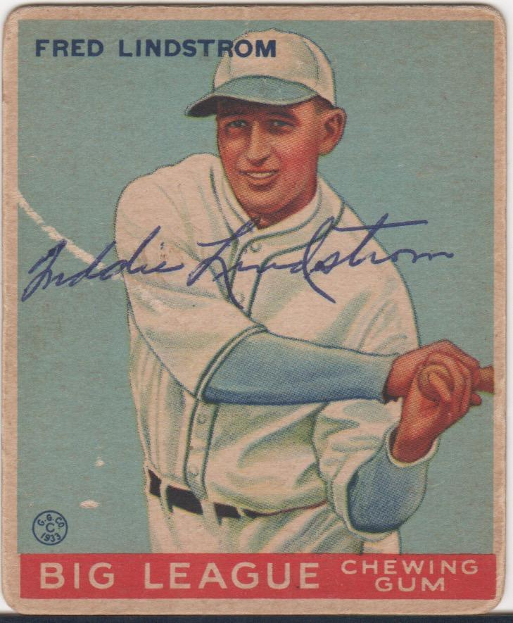 Before his 25th birthday third baseman Fred Lindstrom had more than 1,000 hits and a .327 average