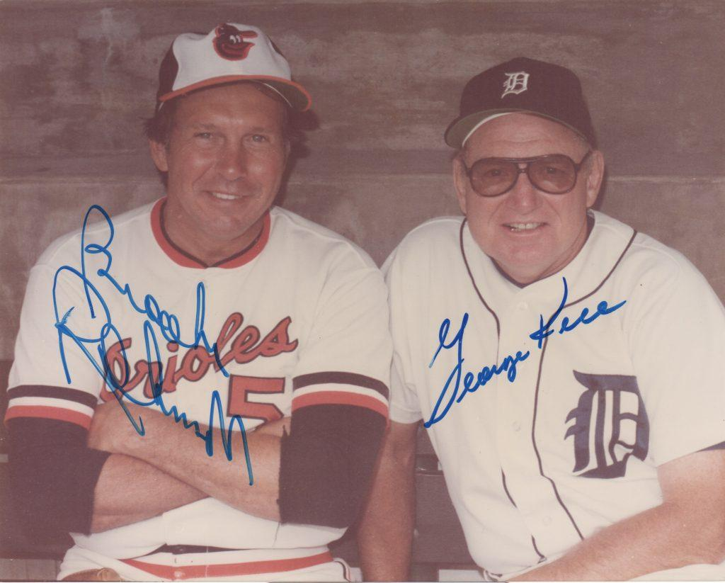 Autographed photo of Brooks Robinson and George Kell