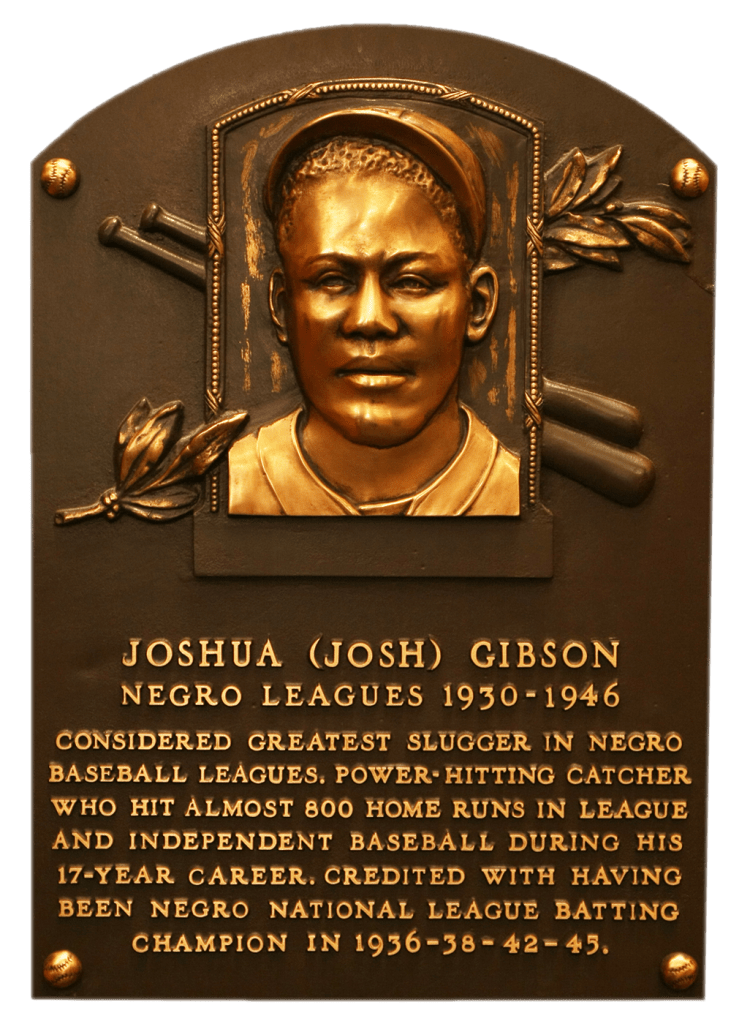 Hall of Fame Plaque of Josh Gibson