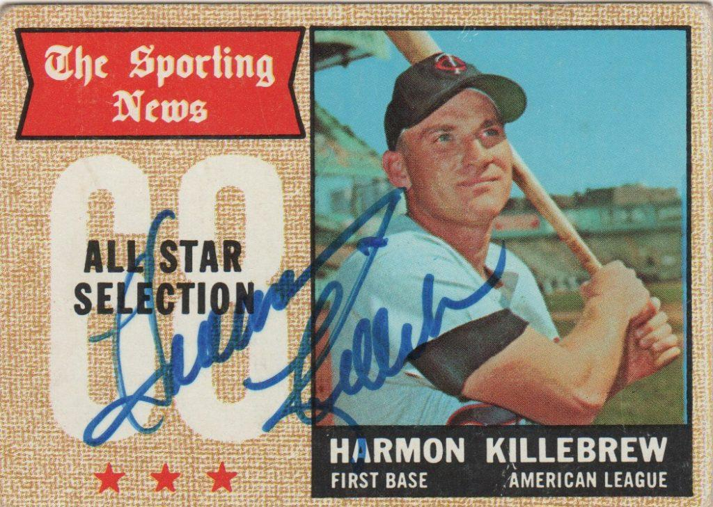 Harmon Killebrew autographed 1968 Topps All Star card