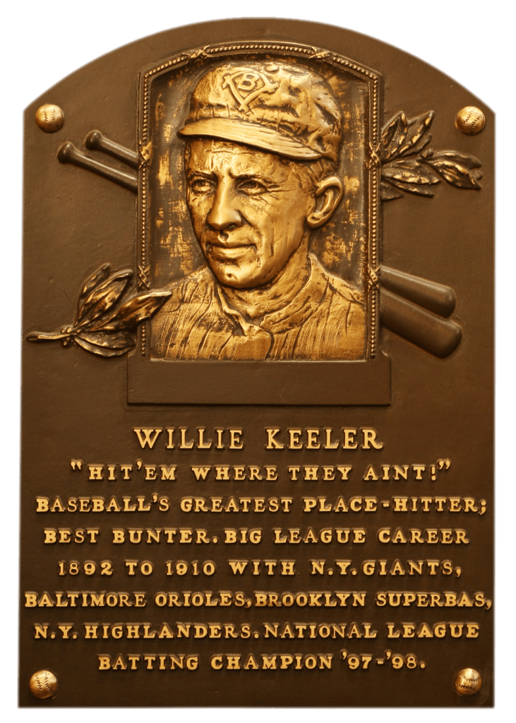 Willie Keeler's Hall of Fame plaque