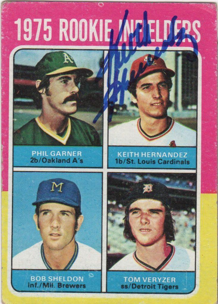 Autographed 1975 Keith Hernandez rookie card