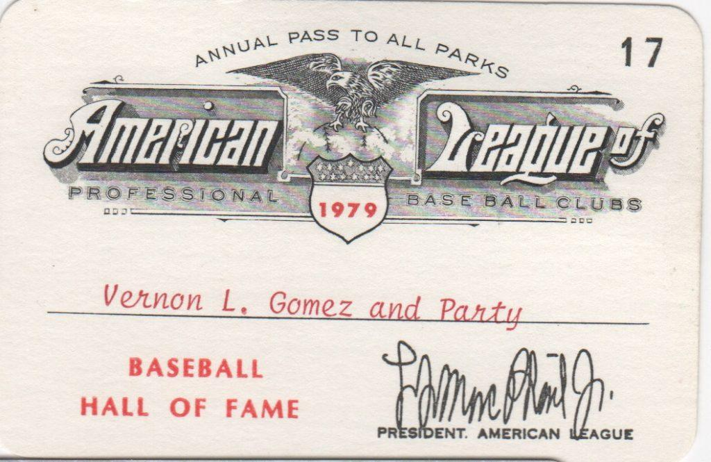 American League season pass for all games in 1979