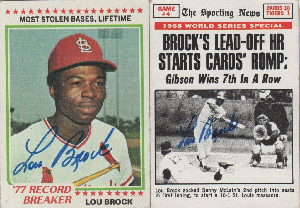 Speedster Lou Brock was a World Series hero, hitting .391 in 21 Fall Classic games