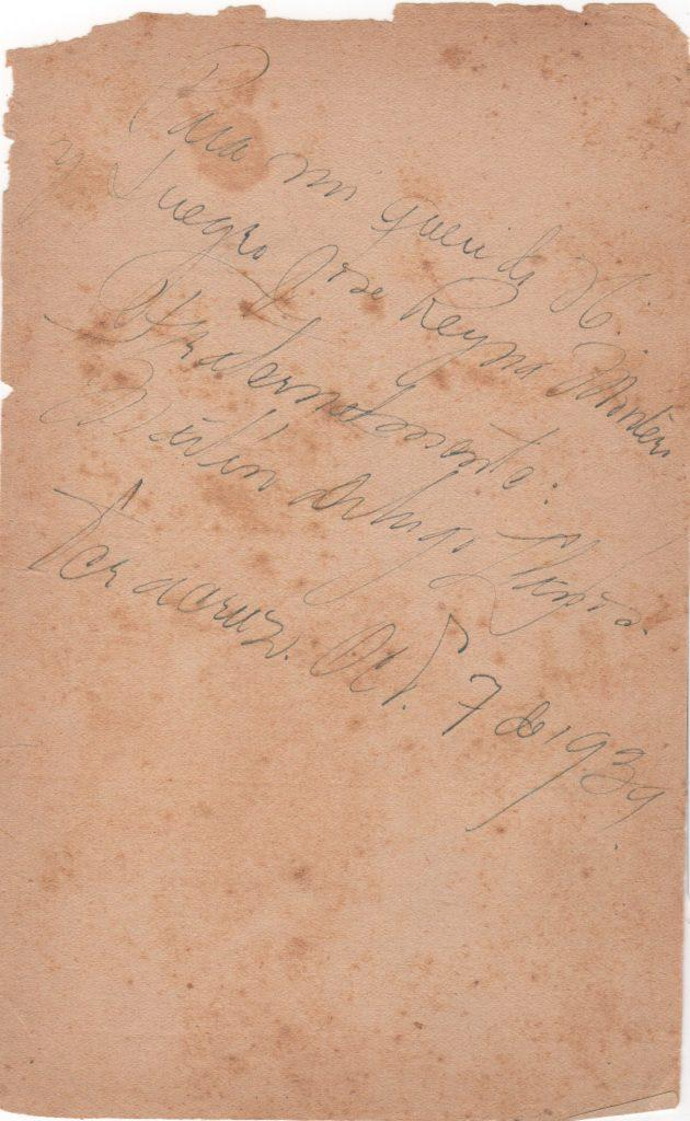 Signed page in Spanish from October 7, 1939