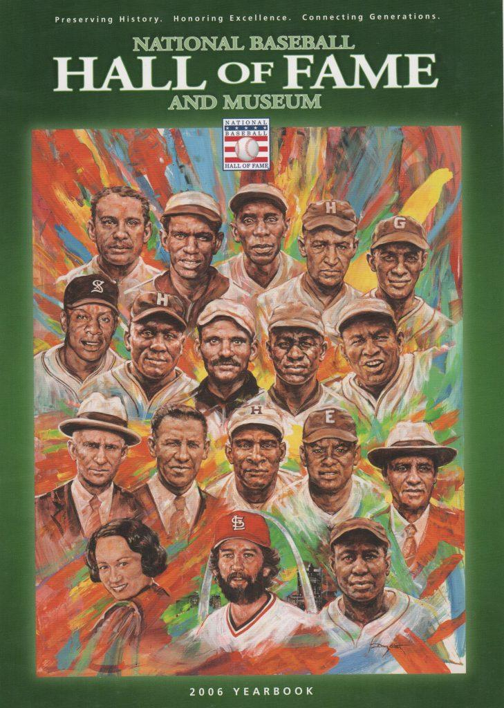2006 Hall of Fame yearbook with Willard Brown on the cover