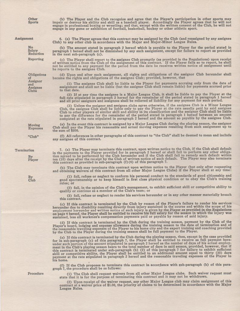 Page two of the standard 1951 contract