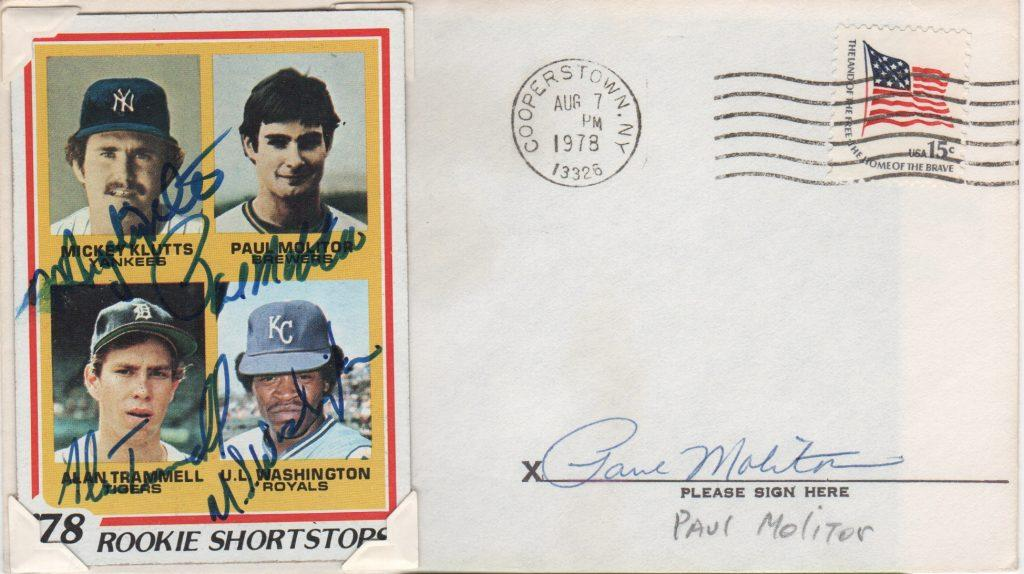 Primitive First Day Cover signed during rookie year