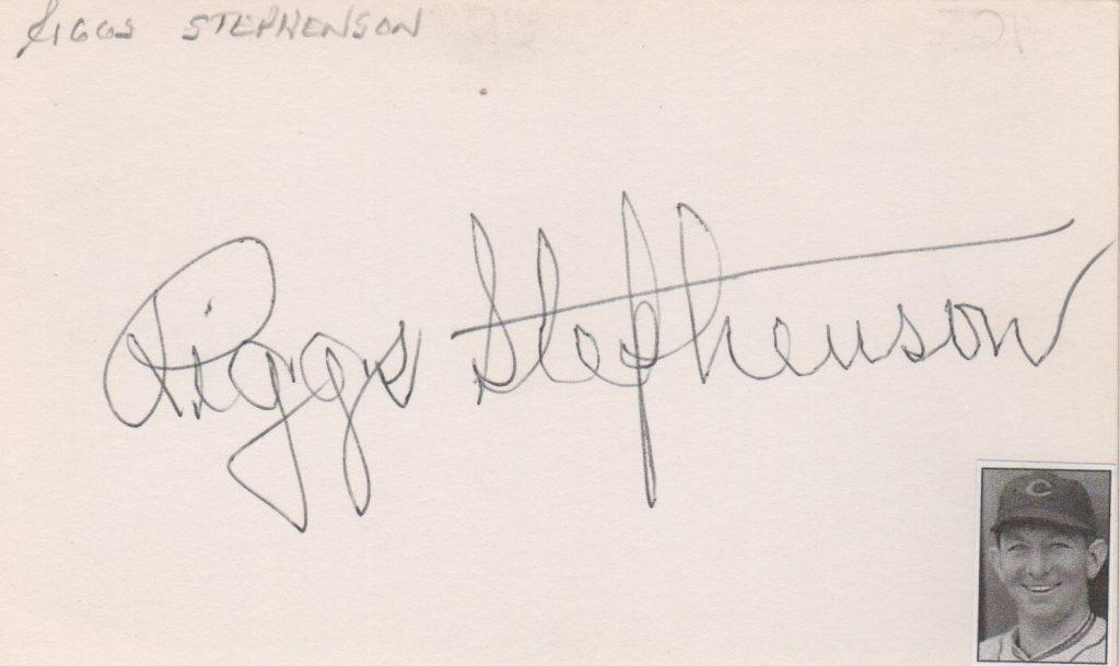 Autographed 3x5 card of Riggs Stephenson