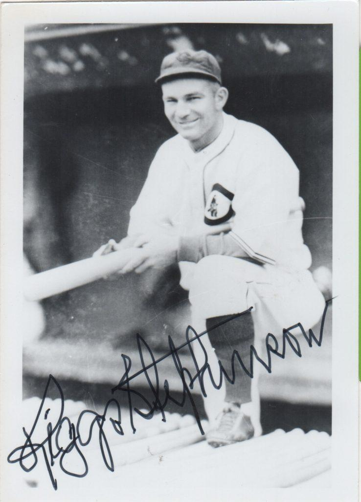 Riggs Stephenson autographed photo