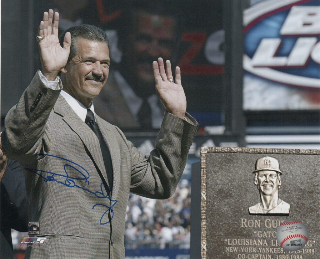Guidry was enshrined at Monument Park in 2003