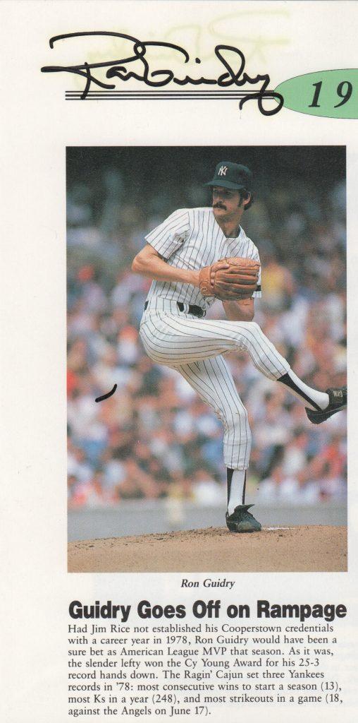 Autographed photo commemorating 1978 season